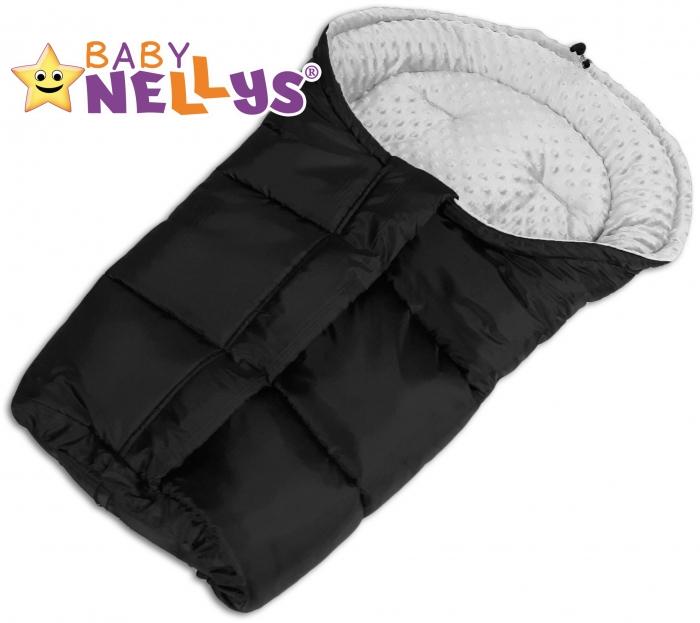 Fusák nejen do autosedačky Baby Nellys ® MINKY - sv. šedý