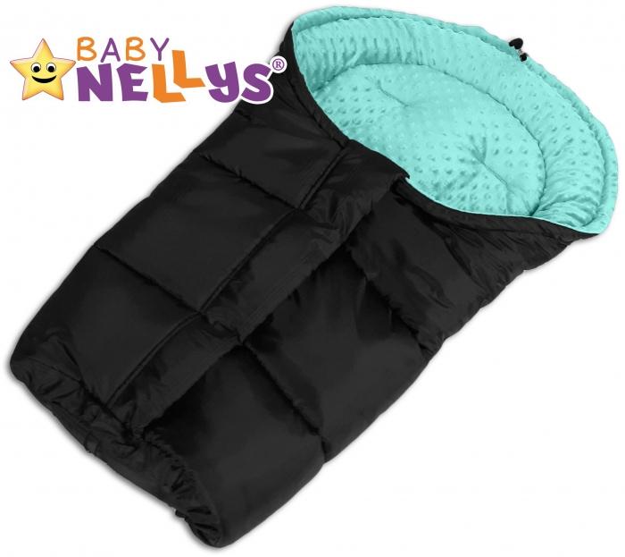 Fusák nejen do autosedačky Baby Nellys ® MINKY - tyrkysový