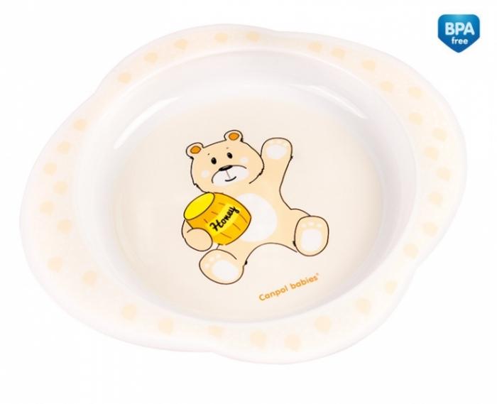 Talířek Canpol Babies - Medvídek - sv. žlutý