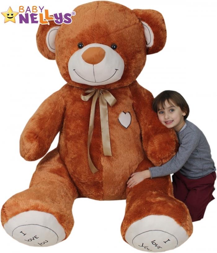 XXL MAXI Plyšový Medvěd - hnědý - 190 cm