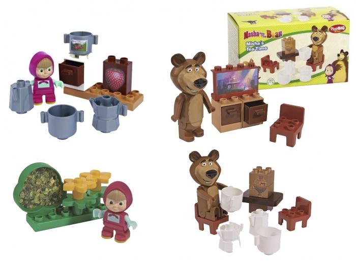 Stavebnice Máša a medvěd, 4 druhy