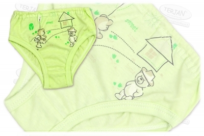 Dětské kalhotky s obrázkem - zelené, vel. cca 1 rok