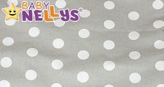 Bavlněné prostěradlo Baby Nellys - Bubble retro šedá