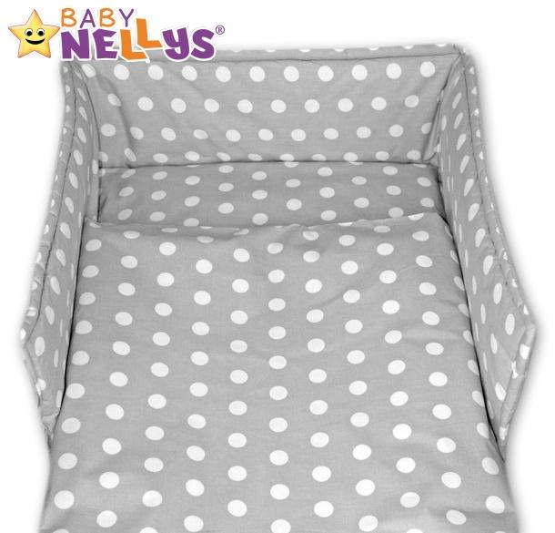 Mantinel s povlečením Baby Nellys ® - Bubble retro šedé