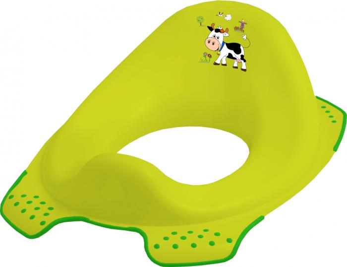 Adaptér - treningové sedátko na toaletu Funny Farm - zelený