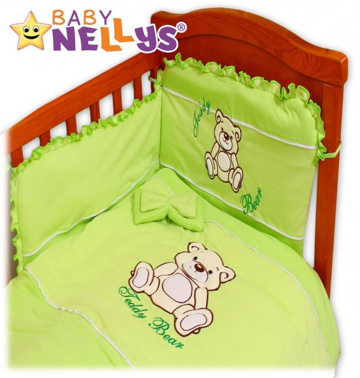 Povlečení do postýlky TEDDY BEAR Baby Nellys - jersey - zelené