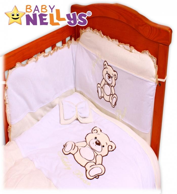 Povlečení do postýlky TEDDY BEAR Baby Nellys - jersey - ecru