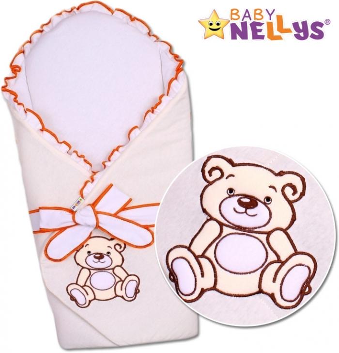 Zavinovačka s výztuží TEDDY BEAR Baby Nellys - velur - ecru