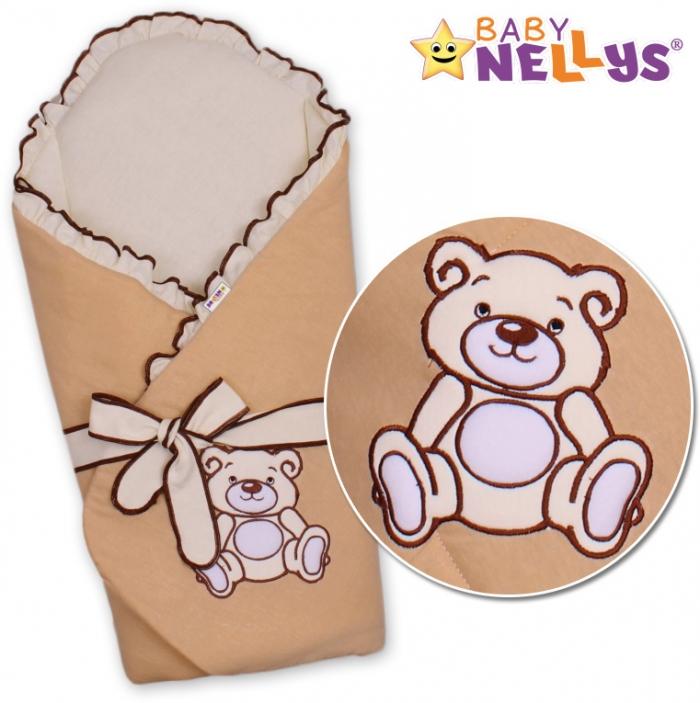 Zavinovačka s výztuží TEDDY BEAR Baby Nellys - velur - kávová
