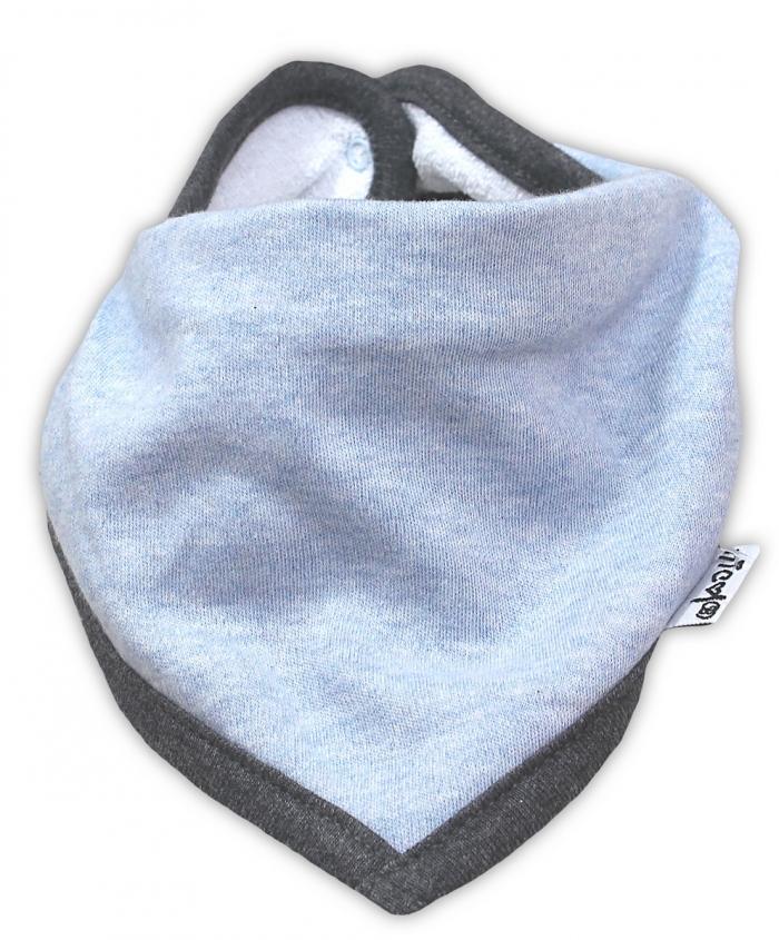 Dětský šátek na krk NICOL AUTO - melír sv. modrá