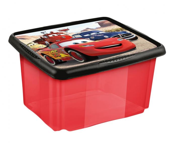 Box na hračky Cars 45 l - červený