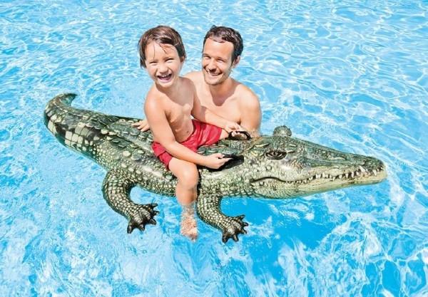 e20bfdfe5 Lehátko Krokodýl nafukovací s úchyty 170x86cm od 3 let
