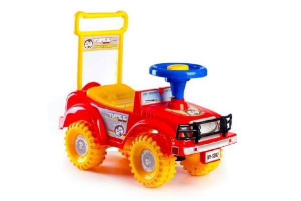 Odrážedlo auto Yupee červené 53,5x48,3x26cm v krabici od 12 do 35 měsíců