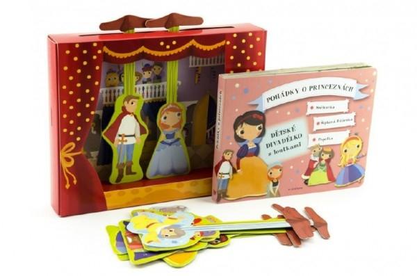 Pohádky o princeznách - Dětské divadélko/divadlo s loutkami v krabičce 26x21cm
