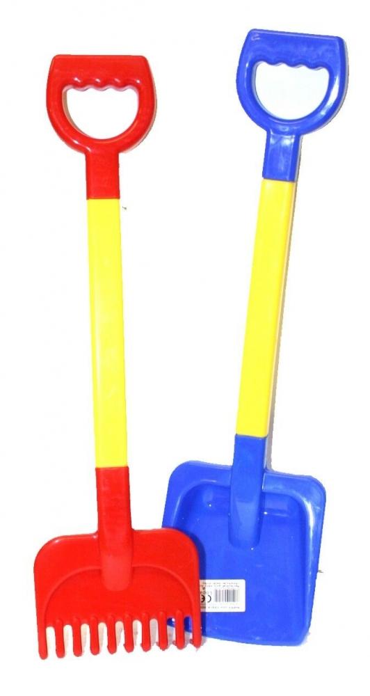 Lopatka a hrábě 55 cm plastové