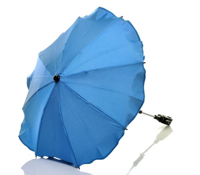 Slunečník, deštník do kočárku - modrý