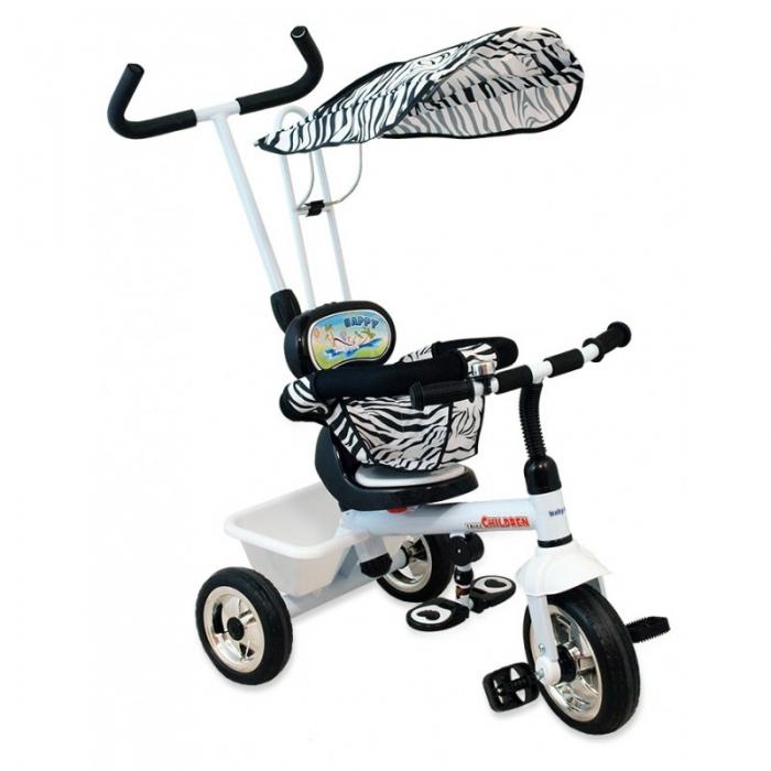 Dětská tříkolka Baby Mix - Zebra
