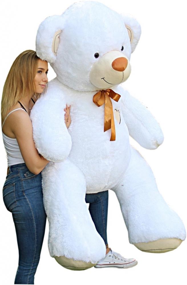 Obr plyšový Medvěd - bílý - 190 cm