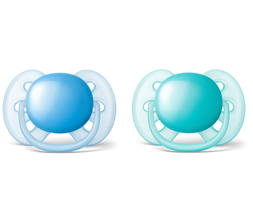 Dudlíky Avent 0-6m ULTRA SOFT - modrá/tyrkys