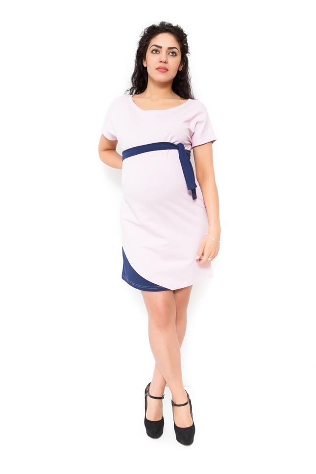 Těhotenské šaty Ines - světle růžové a8e1ce1dbf