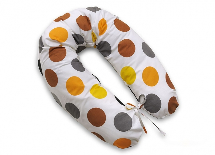 Kojící polštář - relaxační poduška Multi Bubliny - hnědé