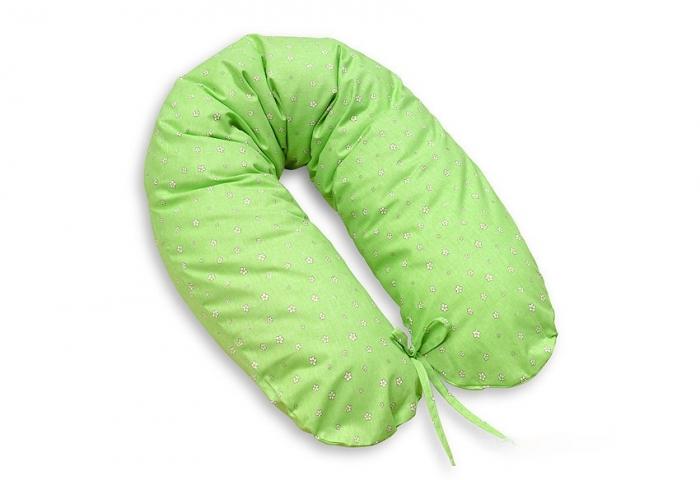 Kojící polštář - relaxační poduška Multi Kytičky - zelené
