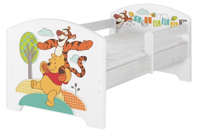 Dětská postel Disney - Medvídek PÚ a tygřík