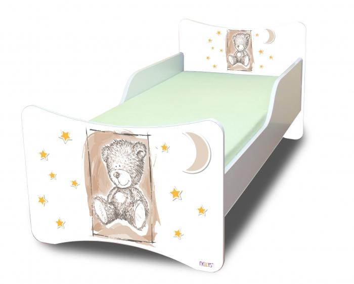 Dětská postel NELLYS Sweet TEDDY - béžová