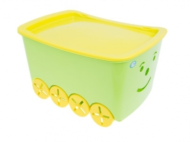 Pojízdný box na hračky Play - zelený