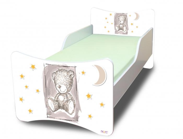 Dětská postel NELLYS Sweet TEDDY - šedý