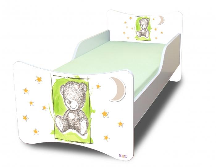 Dětská postel NELLYS Sweet TEDDY - zelený