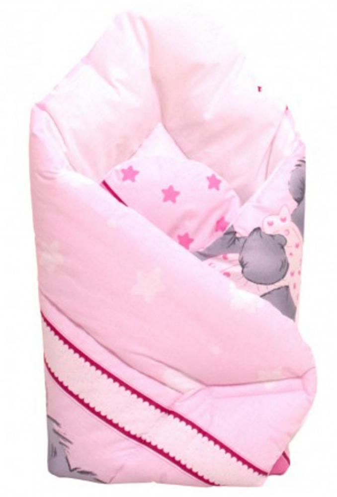Novorozenecká zavinovačka - Mimi Bear - růžový