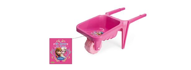 Plastové kolečko na písek FROZEN - růžové