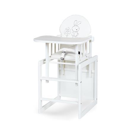 Jídelní židlička Agátka III - bílá