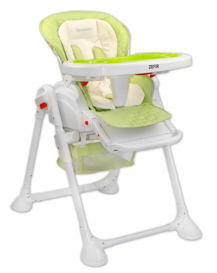 Jídelní židlička a houpačka 2v1 ZEFIR - zelená