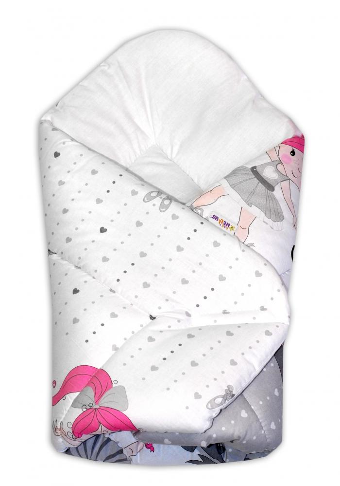 Novorozenecká zavinovačka Baby Nellys ®- Baletka - šedá