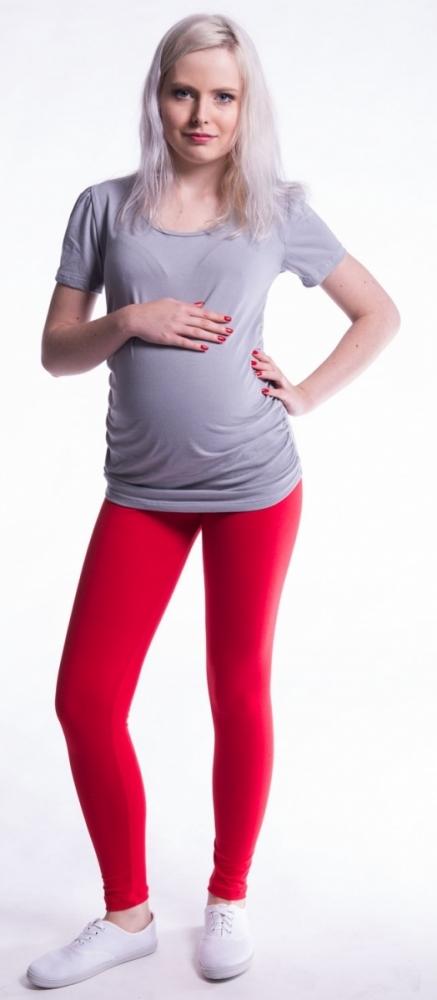Těhotenské legíny - červené
