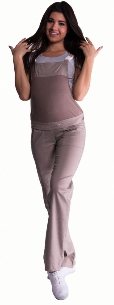 Těhotenské kalhoty s láclem - béžové
