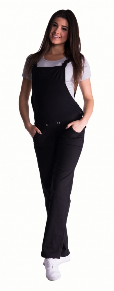 Těhotenské kalhoty s láclem - černé vel. XXXL