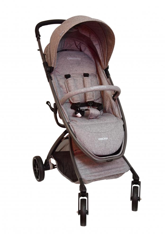 Coto Baby Kočárek VERONA Comfort Line - Len Grey