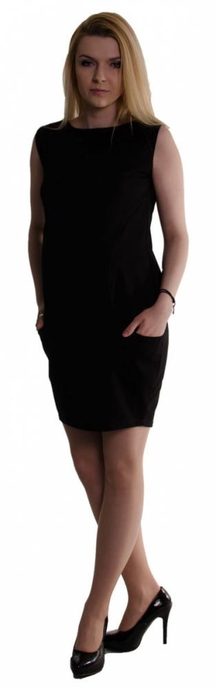 c4d3149fb5a Těhotenské letní šaty s kapsami - černé