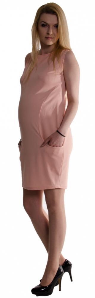 Těhotenské letní šaty s kapsami - pudrově růžové 82d0523e7d