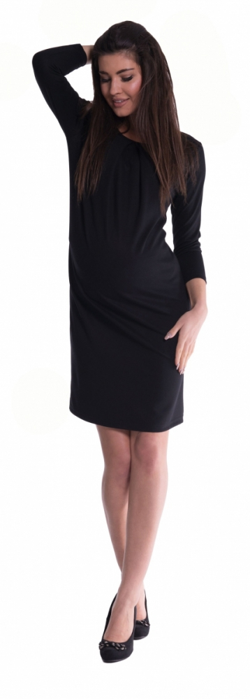 Těhotenské šaty - černé