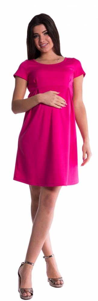 Těhotenské šaty - amarant