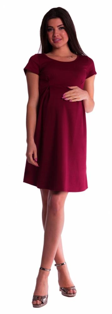 Těhotenské šaty - bordó