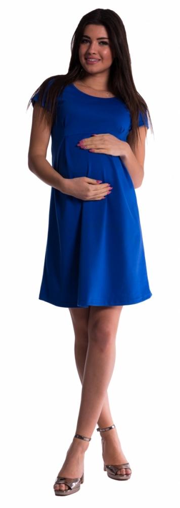 Těhotenské šaty - tm. modré