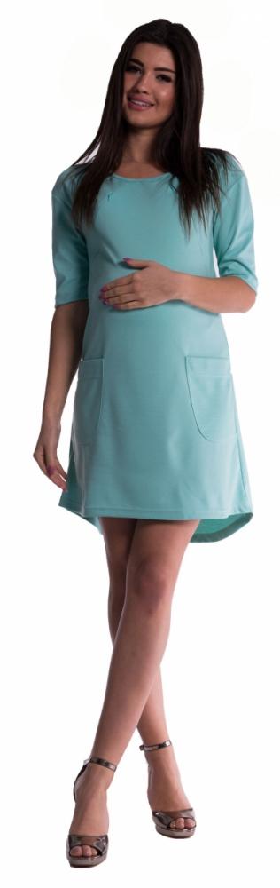Těhotenské a kojící šaty - máta