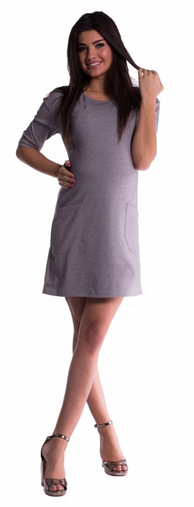 Těhotenské a kojící šaty - šedé