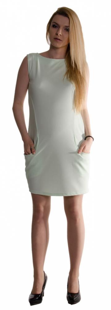 46494272ad6 Těhotenské letní šaty s kapsami - máta