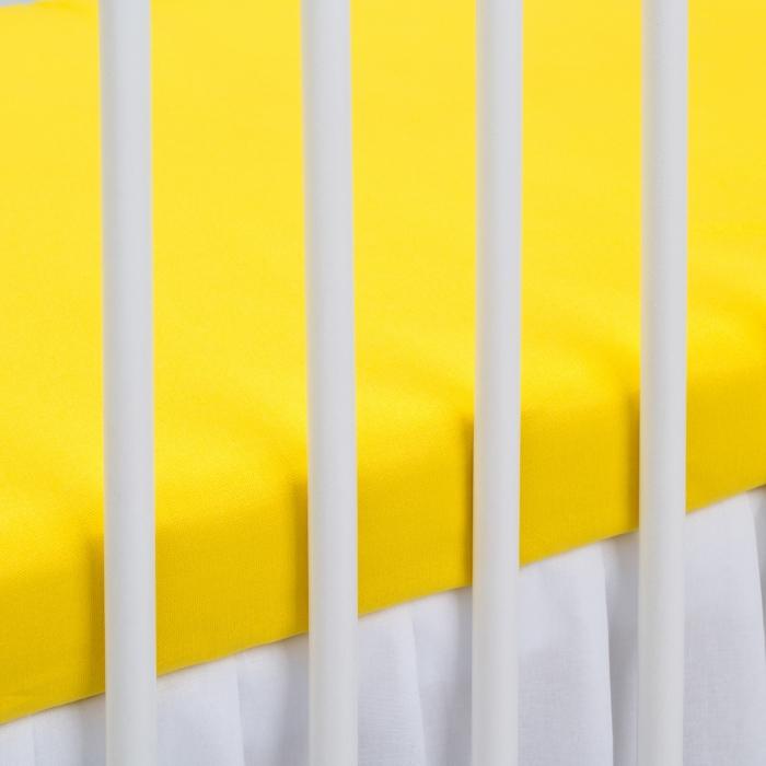 Bavlněné prostěradlo - žluté
